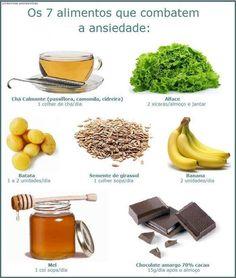 Alimentos que combatem a ansiedade. Saiba como fazer mais coisas em http://www.comofazer.org