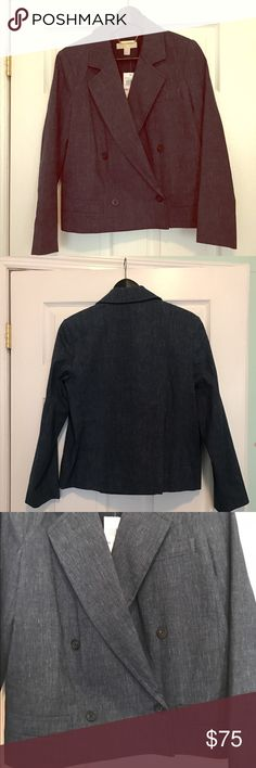 Michael Kors Denim Jacket This jacket is double breasted with two button closure (the top row of buttons are just for show). Perfect for spring. Michael Kors Jackets & Coats Jean Jackets