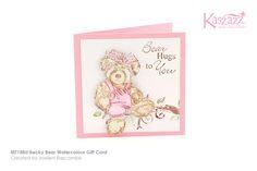 MT188d Becky Bear Watercolour Gift Card
