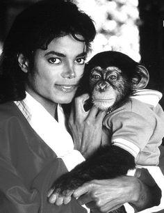 <3 Michael Jackson <3 & Bubbles :)
