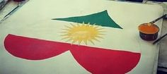 Kurd flag Tree Branches, Art Pieces, Flag, How To Make, Artworks, Flags