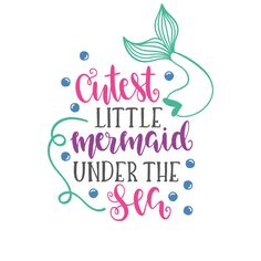 66 Ideas Quotes Disney Little Mermaid Under The Sea Little Mermaid Shirt, Little Mermaid Birthday, Little Mermaid Crafts, Little Mermaid Quotes, Little Mermaid Silhouette, Mermaid Room, Mermaid Mermaid, Mermaid Under The Sea, Disney Little Mermaids