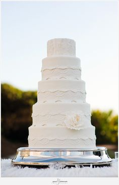 STUNNING lace cake by Confections on the Coast (my cake vendor!) I LOVE.
