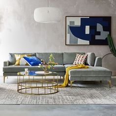 Modern furniture for every room. Find contemporary sofas, headboards, dining tables, and more at west elm furniture store. Distressed Rugs, Luxury Furniture Brands, Open Weave Pendant, Bedroom Design, Furniture, Chaise Sofa, Chaise, Home Decor, Home Furnishings