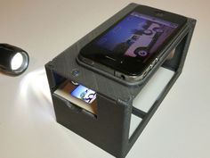 35mm Slide Copy Stand for Smart Phones by toycar http://thingiverse.com/thing:30728