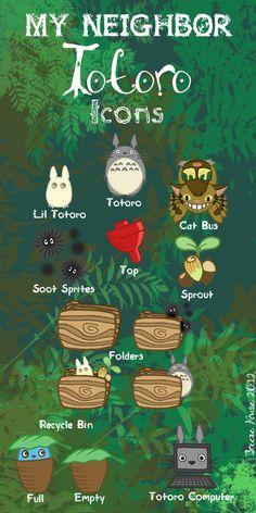 My neighbor Totoro | My Neighbor Totoro Icons (13 iconos) – Pulsar para descargar