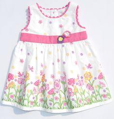 Border Print Floral Dress