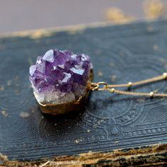 amethyst raw crystal necklace
