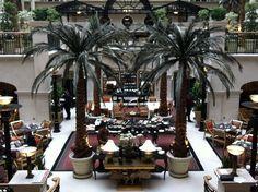 #Atrium #Dining #Winter#Garden #Landmark #Hotel #London #Palm#Trees