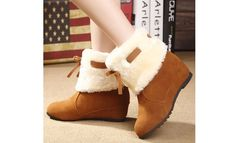 Winter Women's Fashion Warm Snow Boots Fur Ankle Increased Boots