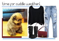 """cuddle time"" by jennross76 ❤ liked on Polyvore featuring UGG Australia, Zadig & Voltaire, casual and puppy"