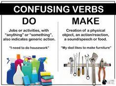 Verbos confusos em inglês - do e make