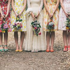 Floral Vintage. #casamento #madrinhas #floral #vintage #vestido #wedding #dress #bridesmaid {Fragmentos}