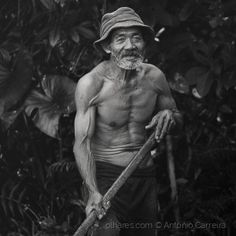 Old dude doing the gardening