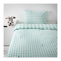 IKEA - STILLSAMT, Bettwäscheset, 2-teilig, , Baumwolle; hautsympathisch und weich.Dichtgewebter Stoff aus 100% Baumwolle, besonders strapazierfähig, farbbeständig und weich.Pflegeleicht; maschinenwaschbar bei 60°C.