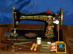 SINGER 66 RED HEAD TREADLE SEPT 9TH 1919 SEWING MACHINE