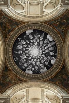 Artist JR turns the Panthèon in Paris INSIDE OUT | http://www.yatzer.com/jr-inside-out-pantheon