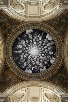 Artist JR turns the Panthèon in Paris INSIDE OUT   http://www.yatzer.com/jr-inside-out-pantheon #art