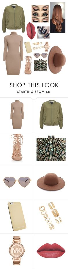"""H E A R T E Y E S C A U S E I M I N L O V E W I T H M Y S E L F"" by guccimucci ❤ liked on Polyvore featuring Rumour London, Maison Scotch, Gianvito Rossi, Wildfox, Forever 21, Michael Kors, women's clothing, women's fashion, women and female"