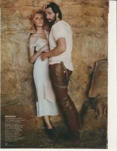with Michiel Huisman Editorial, Glamour Magazine, Classic Beauty, Daenerys Targaryen, Couple Photos, Pictures, Fictional Characters, August 2014, Couple Shots
