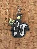 ITH Digital Embroidery Pattern for Skunk with Butterfly on Nose Sna – Bad Bobbin Key Fobs, Key Chain, Embroidery Patterns, Machine Embroidery, Tab Key, Digital Pattern, 4x4, Hoop, Butterfly