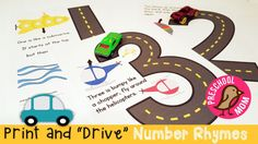 This page is filled with printable resources with a transportation theme. We've got some great coloring pages, wordwall cards, cut and paste activities, bingo games, and more. One of my children's favorite books is called Teaching Numbers, Numbers Preschool, Preschool Printables, Preschool Learning, Kindergarten Worksheets, Preschool Projects, Preschool Ideas, Teaching Math, Teaching Ideas