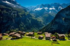 Gimmelwald, Swiss Mountain Village, Lauterbrunnen Valley, Swiss Alps, Bernese Alps, Switzerland Photograph, Swiss Art, Home Wall Decor by Ultimateplaces on Etsy