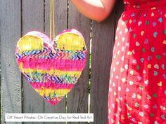 How to make a DIY Pinata Heart. Simply stunning!