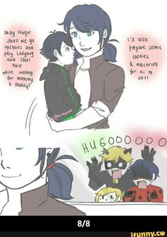 Child AU Part 3 Thank you for those who waited huhu I'm so sorryyy It's been so long since the last one qwq but yay here it is owo Part 4 and 5 soon Part 1 Part 2 Part 3 Ladybug Cookies, Meraculous Ladybug, List Of Memes, Marinette And Adrien, Miraculous Ladybug Fan Art, Cartoon Crossovers, Just Friends, Instagram, Lady Bug
