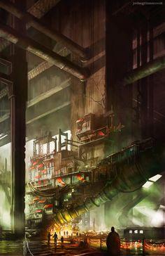 """Jordan Grimmer's """"Sector 5 Slums"""""""