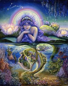 Pisces Josephine Wall / sign of the Zodiac by shelly                                                                                                                                                                                 Mais