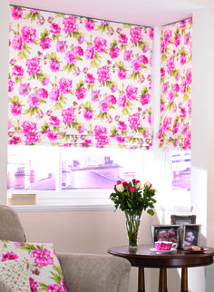 Huge Range of Curtain Poles, Tracks, Blinds & Accessories - 30 Years Experience - Expert Advice - Top Rated Customer Service - FREE & FAST UK Delivery. Blinds For You, Blinds For Windows, Curtains With Blinds, Valance Curtains, Bay Windows, Living Room Blinds, Living Room Windows, Country Roman Blinds, Pink Roman Blinds