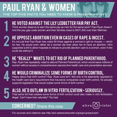 Do You Know Just How Conservative and Anti-Woman Paul Ryan Is? http://blogs.babble.com/strollerderby/2012/08/14/do-you-know-just-how-conservative-and-anti-woman-paul-ryan-is/