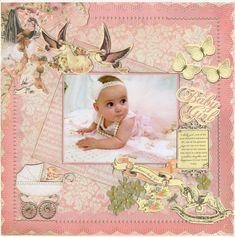 Layout: Baby Girl .. New Kaisercraft