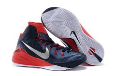Cheap Nike Brand Hyperdunk 2014 Red/Blue New Release Mens Athletic Sneakers