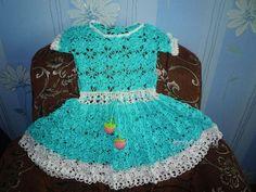 Платье для девочки - работа Татьяны вязание и схемы вязания