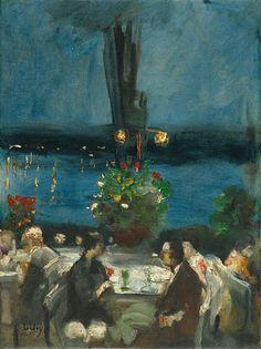 Lesser Ury - Gartenrestaurant an der Havel 1925