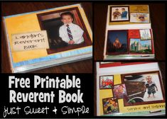 Printable reverent book, add photos of your own kid.