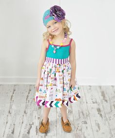 Look at this KPea Original Turquoise Home Sweet Home Tank Dress - Infant, Toddler & Girls on #zulily today!
