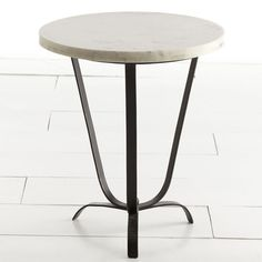 Wisteria - Furniture - Side Tables & Pedestals - Sleek Marble-Top Accent Table - $329.00