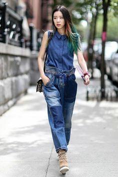 damen trends patchwork jeans damen