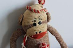 Vintage Large Sock Monkey Original   eBay