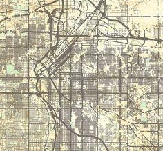 DENVER Canvas print Colorado CO Vintage map by NatalyBorichArt