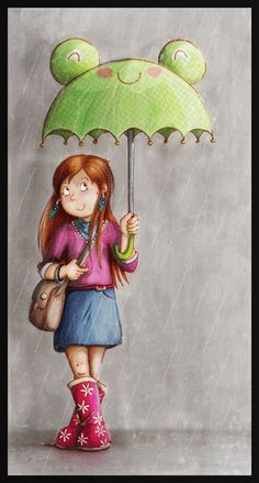"Illustration - Automne - État d'Am' When your last name is ""APRIL"", whatever the month is, it is always April for me."