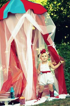 Circus Tent Play Canopy - no sew!