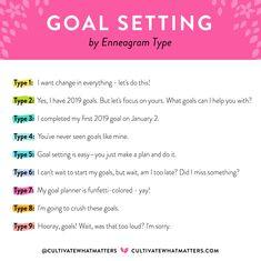 Goal Setting and the Enneagram #cultivatewhatmatters #goalsetting #goals #2019 #goalplanner