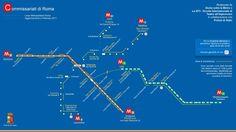 Roma: pubblicata mappa della metro con i commissariati vicini alle fermate - http://www.sostenitori.info/roma-pubblicata-mappa-della-metro-commissariati-vicini-alle-fermate/279573