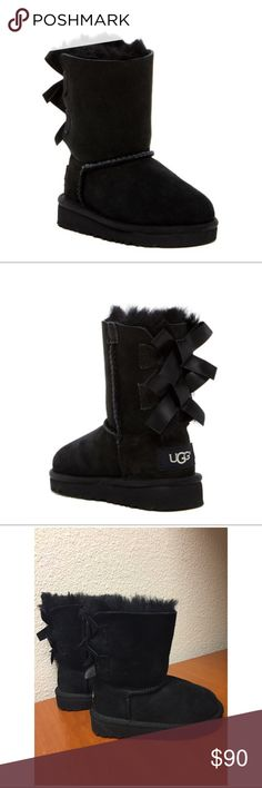Toddler Girl UGG Boots UGG Australia Bailey Bow Genuine Sheepskin Lined Boot (Toddler).  A comfy and cozy boot for your little one this winter! Like new! Worn twice! UGG Shoes Boots