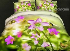 Shop Beddinginn new arrivals from all home furnishing categories. Discover what new styles we lately have, enjoy trendy bedding collections and more new products. Great deals on all new arrivals items with nice discount for any home. 3d Bedding, Floral Bedding, Luxury Bedding, Butterfly Flowers, Butterflies, Bedroom Arrangement, Bedding Sets Online, Cotton Duvet, Bed Styling