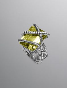one day, maybe  Cable Wrap Ring, Lemon Citrine by David Yurman at Neiman Marcus.